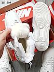 Мужские кроссовки Nike Air Force 1 07 Mid LV8 (белые) ЗИМА, фото 5
