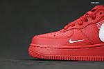 Мужские кроссовки Nike Air Force 1 07 Mid LV8 (красные) ЗИМА, фото 7