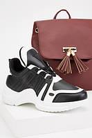 Стильные черно-белые женские кроссовки. Размеры 36, 37, 38, 39, 40, 41.
