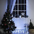 """[ОПТ] Новорічна внутрішня світлодіодна гірлянда """"Водоспад"""", 240LED (480LED), 2 х 2 м, білий холодний, фото 5"""
