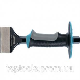 Зубило-конопатка, 215 х 70 мм, трехкомпонентная эргономичная рукоятка, защитный протектор, антикор, Gross