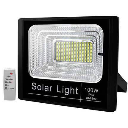 Прожектор светодиодный JD-8800 100W SMD, IP67, солнечная батарея, пульт ДУ, фото 2