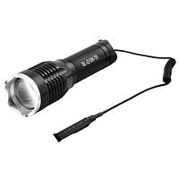Подствольный фонарь Police Q106-T6, с выносной кнопкой, ЗУ 220V, 1x18650/3xAAA, zoom, Box