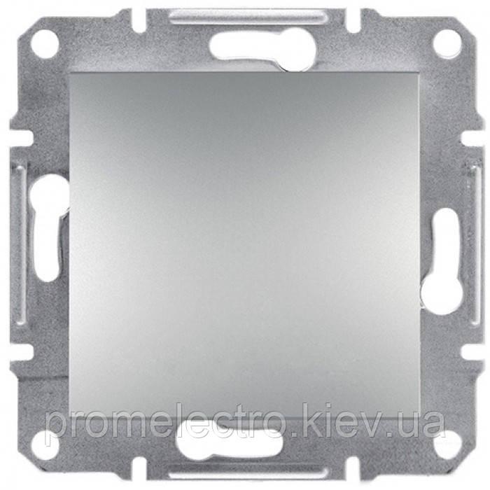 Выключатель 1-клавишный проходной ASFORA алюминий EPH0400161