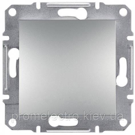 Выключатель 1-клавишный проходной ASFORA алюминий EPH0400161, фото 2