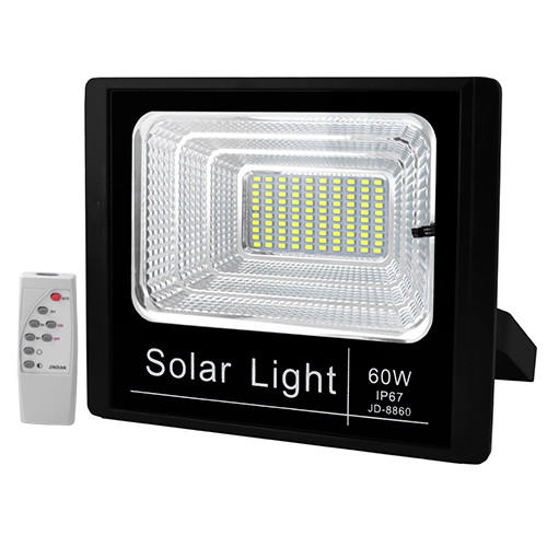 Прожектор светодиодный JD-8860 60W SMD, IP67 солнечная батарея пульт ДУ