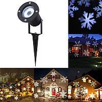 Проектор лазерный Star Shower White Snowflake WP1 лазерная подсветка для дома