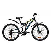 """Велосипед Discovery 24"""" ROCKET DD 2020 (черно-желтый с бирюзовым (м)) (OPS-DIS-24-185)"""