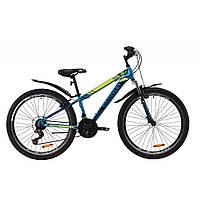 "Велосипед Discovery 26"" TREK AM V-BR 2020 (малахитовый с желтым (м)) (OPS-DIS-26-282)"