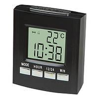 Часы настольные электронные говорящие 7027С, 2*AA