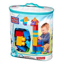 Конструктор Mega Bloks - Классический (First Builders) голубой, 80 дет, 1+ (DCH63)