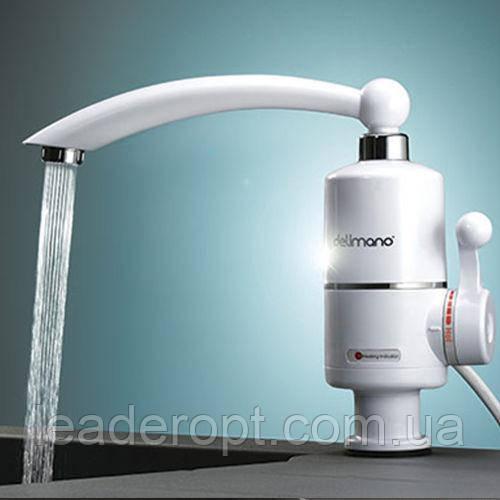 [ОПТ] Електричний водонагрівач Delimano проточний (без екрану). Проточний Delimano