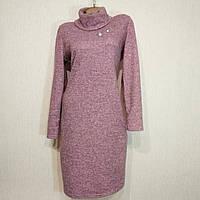 Платье женское теплое с хомутом 52р.(44, 46, 48, 50) большой размер осень-зима