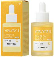 Ампульная эссенция синергитическая с витамином С Tony Moly Vital Vita 12 Synergy Ampoule 30 мл (8806194018904), фото 2