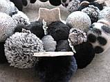 Вінок новорічний на двері, сріблясто-чорний, 32 см, фото 3