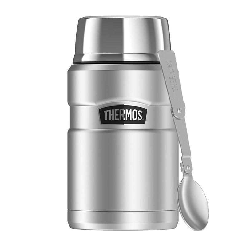 Термос для еды с ложкой серебрянный цвет 0,71л Thermos 173050