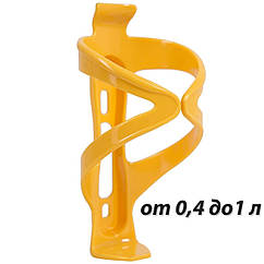 Желтый флягодержатель пластиковый регулируемый BC-BH9221
