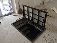 Напольный люк под плитку 700*600 мм Universal-ЕКОНОМ / люк в погреб/ люк в подвал