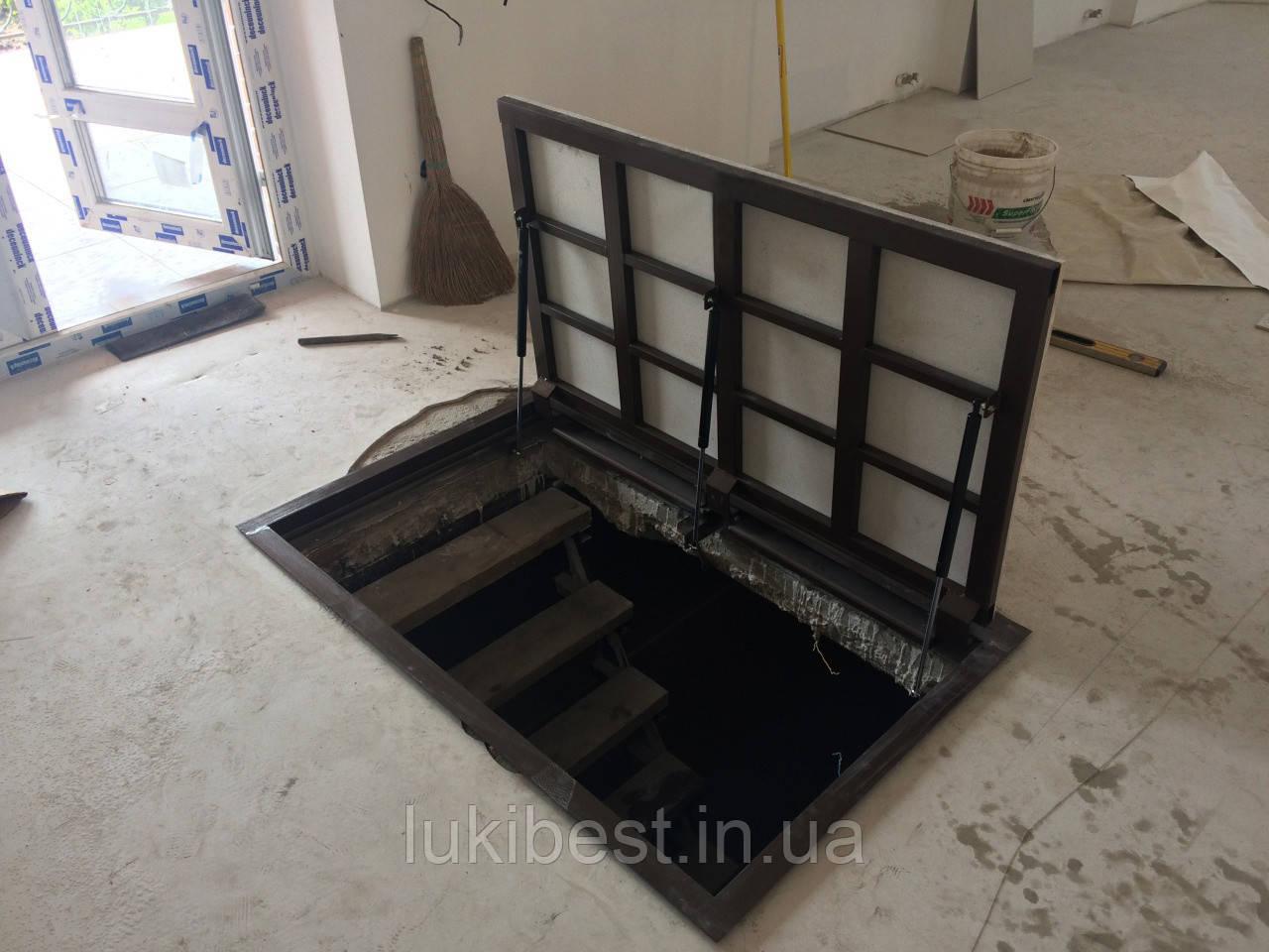 Напольный люк под ламинат 800*800 мм Вest Lift  / люк в погреб/ люк в подвал