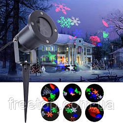 Лазерный проектор Star Shower Festival Projection Lamp (новогодние рисунки, стар шовер)