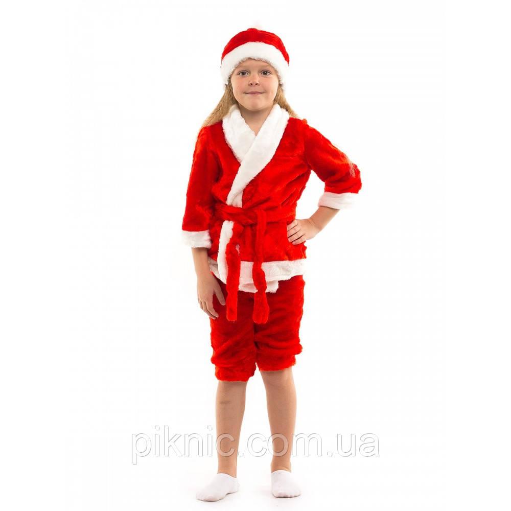 Костюм Новый Год на 3,4,5,6 лет. Детский новогодний карнавальный маскарадный костюм Санта Красный