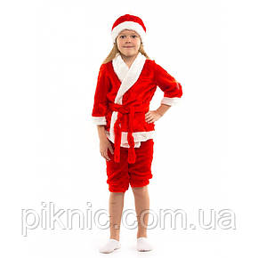 Костюм Новый Год на 3,4,5,6 лет. Детский новогодний карнавальный маскарадный костюм Санта Красный, фото 2