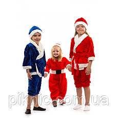 Костюм Новый Год на 3,4,5,6 лет. Детский новогодний карнавальный маскарадный костюм Санта Синий, фото 3