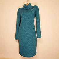 Платье женское с хомутом теплое 44р.(46, 48, 50, 52) осень-зима