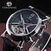 Механические часы с автоподзаводом Forsining (black-silver), фото 9