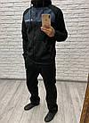 Мужской зимний теплый спортивный костюм с начесом черный + вставки графит 46 48 50 52, фото 3