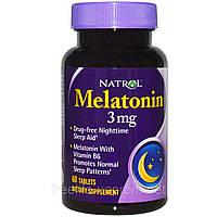 Natrol, Мелатонин, 3 мг, 60 таблеток