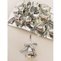 Украшение колокольчики серебрян,12 шт.упаковка, 2,5 см.