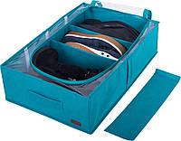 Короб для хранения вещей с тремя съемными перегородками Organize KHV-3 лазурь SKL34-176391