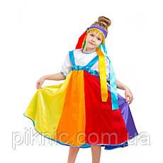 Детский костюм Радуга для девочек 5-8 лет. Новогодний карнавальный костюм для девочек., фото 2