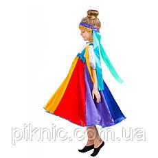 Детский костюм Радуга для девочек 5-8 лет. Новогодний карнавальный костюм для девочек., фото 3