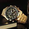 Механические часы с автоподзаводом FORSINING TEXAS (gold-black), фото 6