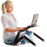 Столик охлаждающий для ноутбука трансформер Laptop Table T8 черный
