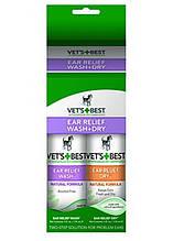 Vet`s Best Ear Relief Wash & Dry Combo Kit Набор для чистки ушей 2*118мл