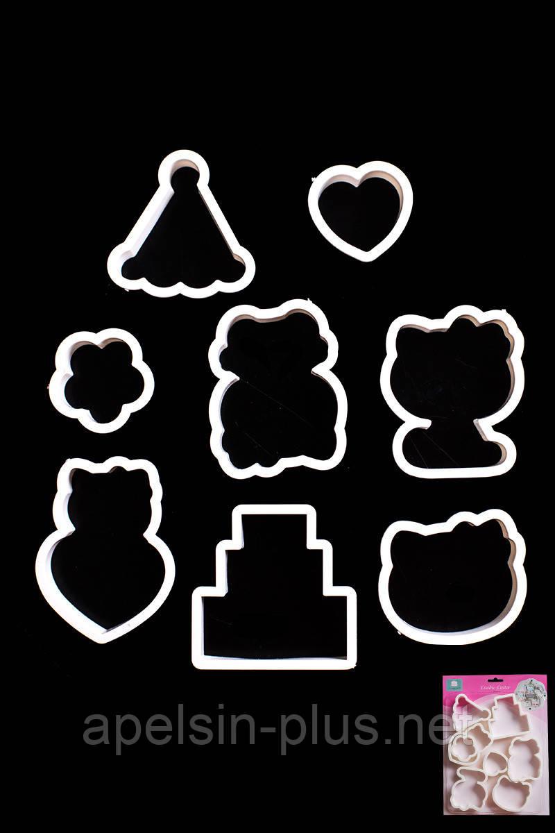 Набор кондитерских вырубок для печенья Китти День рождения из  штук