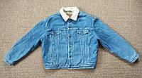 LEVI'S винтажная джинсовая куртка на меху шерпа ОРИГИНАЛ (XL) сделано в Югославии