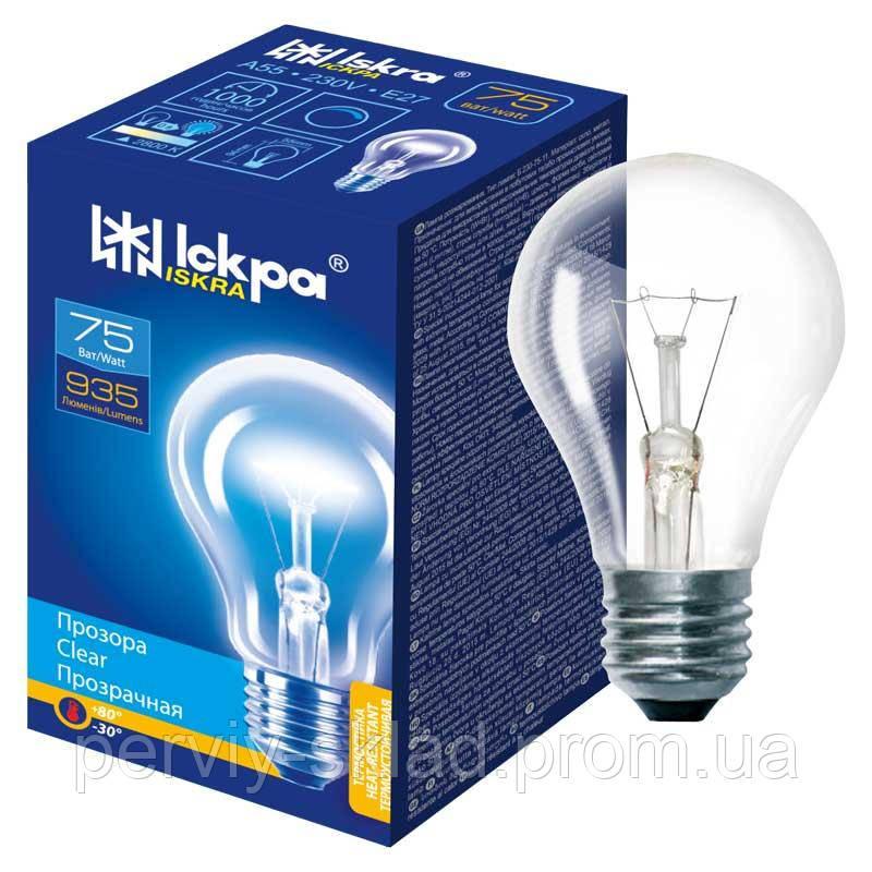Лампа накаливания Iskra 75 вт E27
