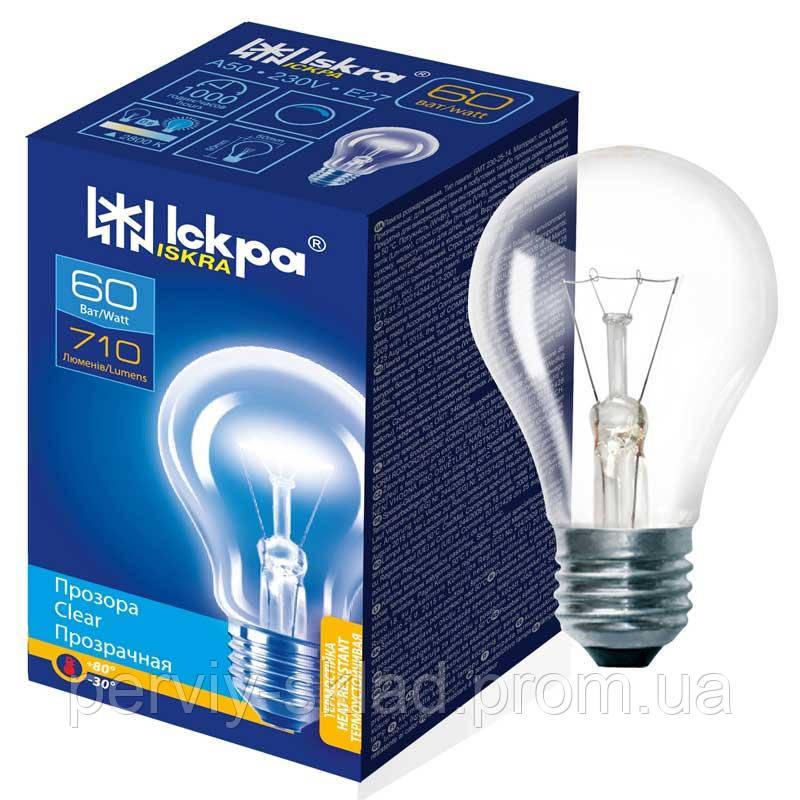 Лампа накаливания Iskra 60 вт E27