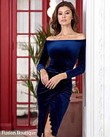 Платье бархатное в расцветках 41303, фото 1