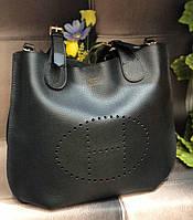 Женская сумка в стиле Hermes (Эрмес) с косметичкой, ЛЮКС качество! ( код: KB984 )