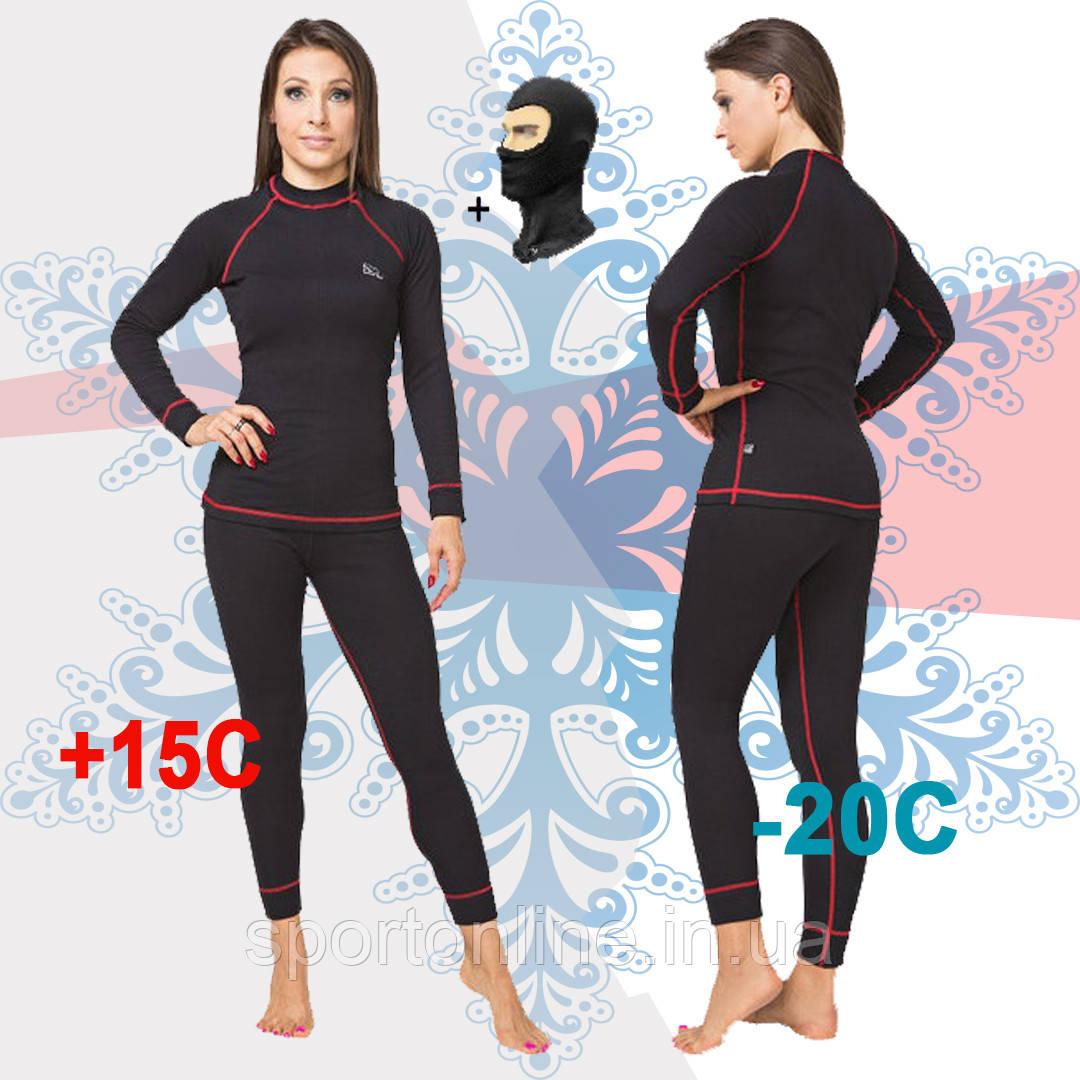 Женское термобелье тёплое зимнее повседневное Radical Rock с красной строчкой, комплект термобелья, фото 1