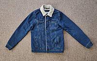 PULL & BEAR джинсовая куртка на меху шерпа джинсовка ОРИГИНАЛ (S)