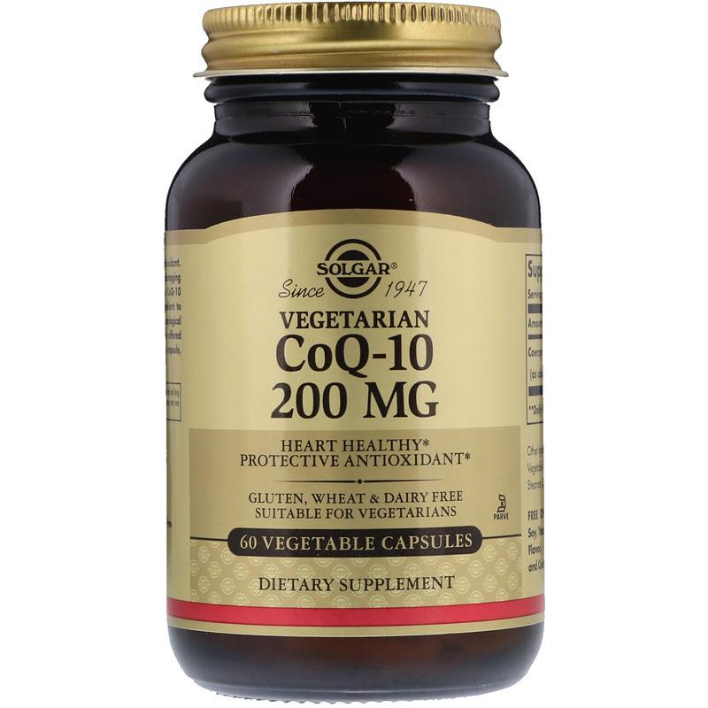 Solgar, Вегетарианский  Коэнзим Q-10, 200 мг, 60 капсул