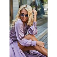 Вечернее лиловое платье с запахом (XS, M)