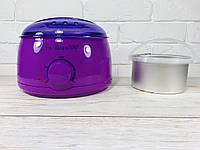 Воскоплав баночный Pro-wax 100 для воска в банке, в таблетках, в гранулах с чашей 400 мл ФИОЛЕТОВЫЙ, фото 1
