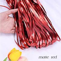 Шторка занавес из фольги красный сатин 1х2 метра
